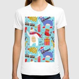 ho ho christmas pattern T-shirt