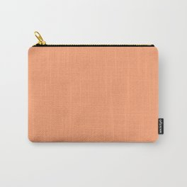From The Crayon Box - Atomic Tangerine - Solid Color - Bright Peach Carry-All Pouch