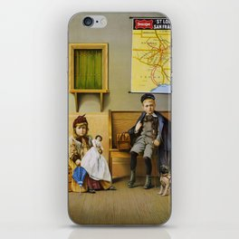 Vintage poster - Waiting Room iPhone Skin