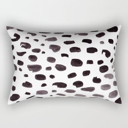 Dalmation Spots Painted Watercolor Pattern Rectangular Pillow