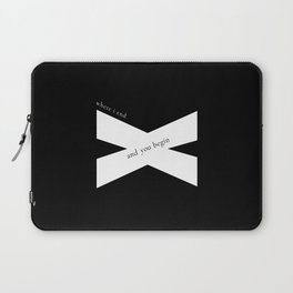 Where I End and You Begin Laptop Sleeve