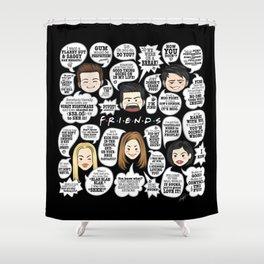 FRIENDS TV Lines Shower Curtain