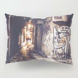 Lower East Side - Midnight Warmth on a Snowy Night Pillow Sham