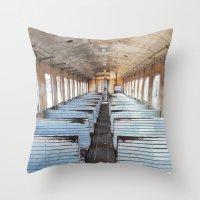 train Throw Pillows featuring Train by create.mojo