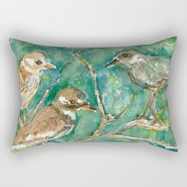 Three Birds Rectangular Pillow