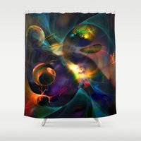 universe Shower Curtains featuring Universe by Robin Curtiss