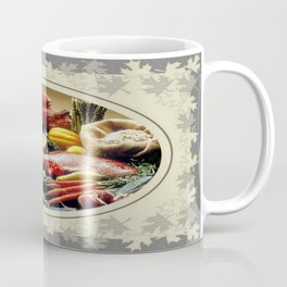 Thanksgiving Dinner and Autumn Decoration. Coffee Mug