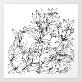 I still hate rhododendrons, though Art Print