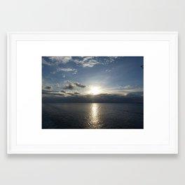 Sunset at Sea Framed Art Print