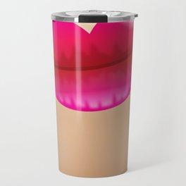 Pink ladies lips on skin Travel Mug