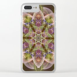 Fantasy flower with tribal patterns Clear iPhone Case