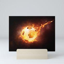 Fire Football Soccer Sport Mini Art Print