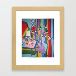 Happpy Dressing Table Framed Art Print