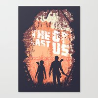 last of us Canvas Prints featuring The Last of Us by Lee Shackleton