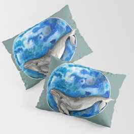 Blue World Whale Pillow Sham