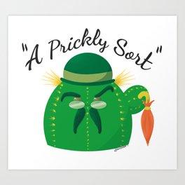 A Prickly Sort: Brolly Art Print