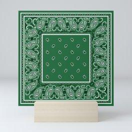 Classic Green Bandana Mini Art Print