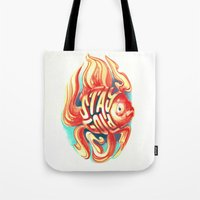 stay gold Tote Bags featuring Stay Gold by Jared Yamahata