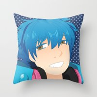 dmmd Throw Pillows featuring Aoba by Liyu