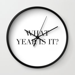 What year is it? Wall Clock