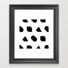 Shapes Pattern Framed Art Print