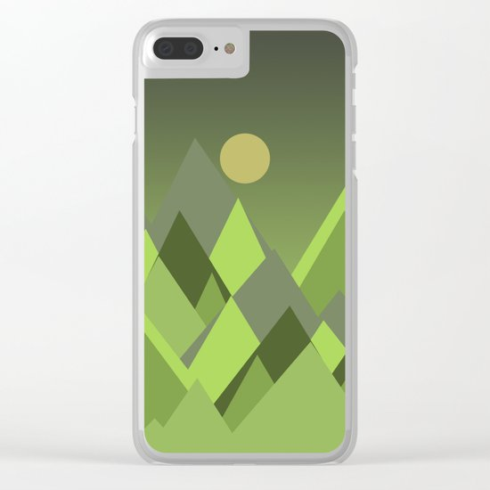 Landscape NC 07 Greenery Clear iPhone Case