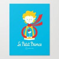 le petit prince Canvas Prints featuring Le Petit Prince by Andrea Tobar
