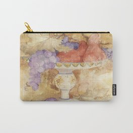 Watercolor Fruit on Clay Fresco Carry-All Pouch