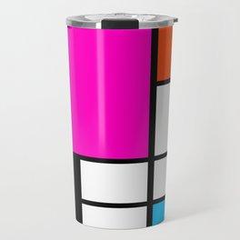 Mondrian Pink Travel Mug
