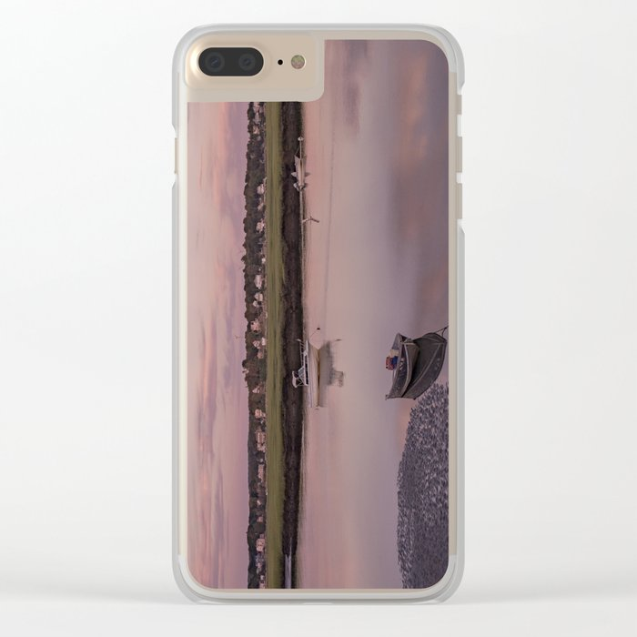 Pier at Golden hour Clear iPhone Case