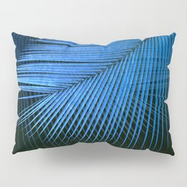 Palm leaf synchronicity - metallic blue Pillow Sham