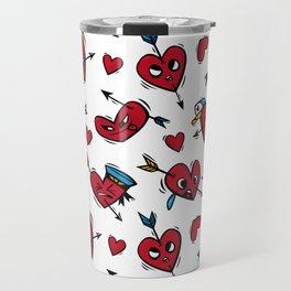 """""""Funny hearts"""" Travel Mug"""