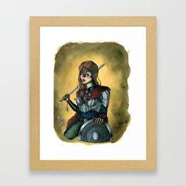 Portrait of Shieldmaiden Framed Art Print
