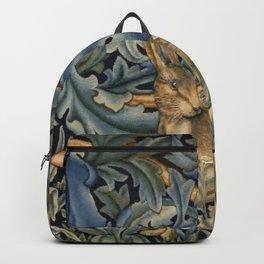 William Morris Forest Rabbit Floral Art Nouveau  Backpack