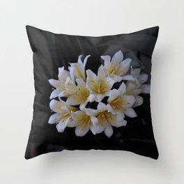 Yellow Bush Lily Throw Pillow