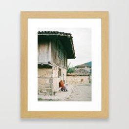 Lone Villager Framed Art Print