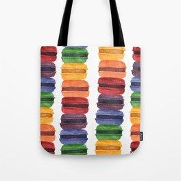 Rainbow Macaron Tote Bag