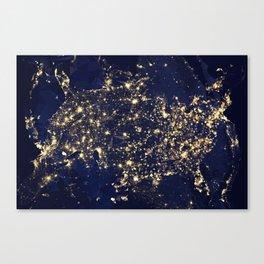 Gold map Canvas Print