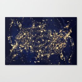 Gold map Canvas Print
