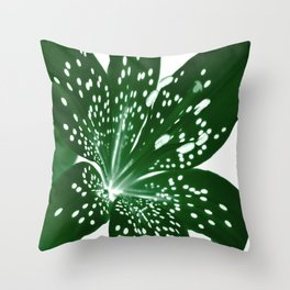 Lily Infrared In Green Throw Pillow