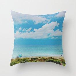 Overlooking Ponto Beach Throw Pillow