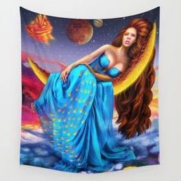 Live in my dreams Nina Vels Wall Tapestry