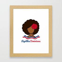 Dominican Afro Gerahmter Kunstdruck