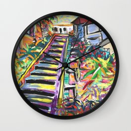 99 Steps To Paradise Wall Clock