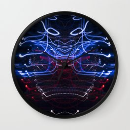 Electric Ether Droid Light Drawing Abstract Wall Clock