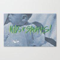 sports Canvas Prints featuring KIDS & SPORTS! by Josh LaFayette
