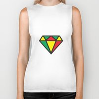 reggae Biker Tanks featuring Reggae Diamond by Grime Lab