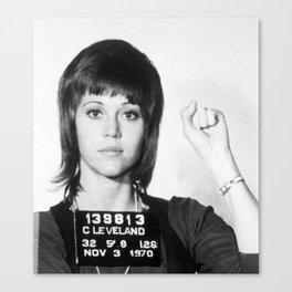 Jane Fonda Mug Shot Vertical Female Future Canvas Print