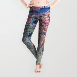 The House among the Roses by Claude Monet Leggings