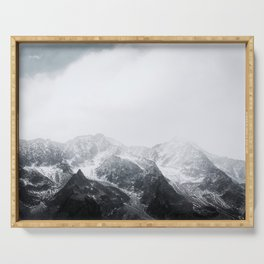 Morning in the Mountains - Nature Photography Serving Tray